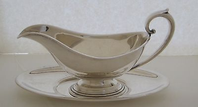 Solid Sterling Silver Gravy Boat with Tray BY WHITING MFG CO. 1922-1923 CODE