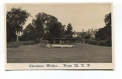 Unknown, Great Britain - house(s), garden - 1930 real photo postcard