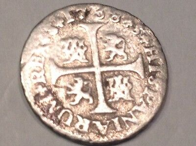 East Coast Detector find: Delaware 1/2 Reale Silver Coin 1738 Colonial Coin *23