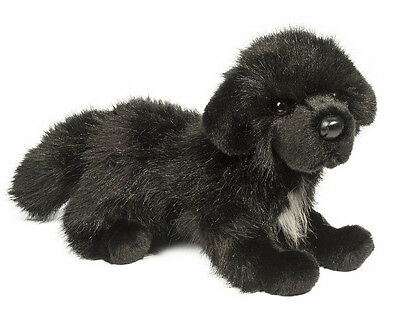 DOUGLAS CUDDLE TOY Stuffed Soft Plush Animal NEWFOUNDLAND Black Dog Puppy 16""