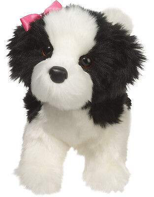 New DOUGLAS CUDDLE TOY Stuffed Plush WHITE BLACK SHIH TZU Puppy Dog Soft Animal
