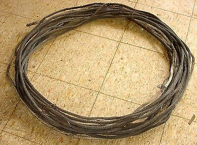100+ Feet Antique Woven Copper Lightning Rod Ground Cable- Great Patina 20+ Lbs.