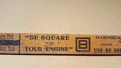Vintage B Square Oil Company Ford Gas Tank Fuel Measuring Stick Bransdall