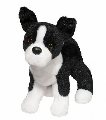 New DOUGLAS TOY Stuffed Plush BOSTON TERRIER DOG Soft Animal Puppy Black & White