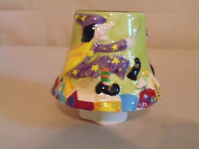 Home Interiors Halloween Candle Capper Shade Ceramic Witch Ghost Black Cat NEW