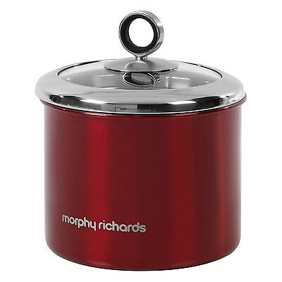Accents 1.4L Small Red Kitchen Storage Canister Tea Sugar Coffee Food Container