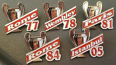 Liverpool Badge - Set of 5 European Cup Badges