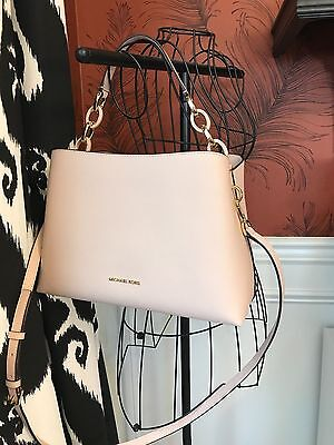 Nwt Michael Kors Saffiano Leather Portia Large Ew Satchel Bag In Soft Pink