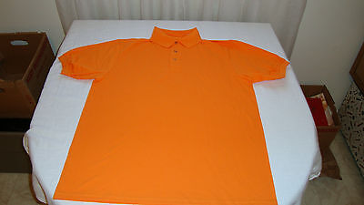"""Men's Hanes Polo Shirt Size Medium """"Athletic Orange"""" New Without Tags"""