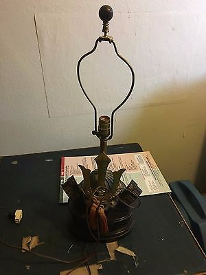 vintage samurai kabuto lamp helmet bronze Heavy Home Desk Lighting Decor