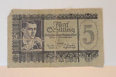 Austria 5 schilling 1945 circulated - No Reserve