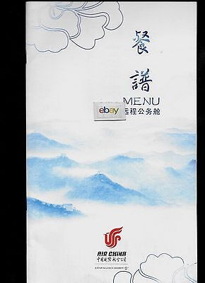 Air China 2016 Business Class Menu English/chinese Autumn Menu 8 Pages