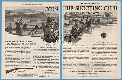 1920 Remington Arms Shooting Club Model No 12 C NRA Target Grade Rifle Gun Ad