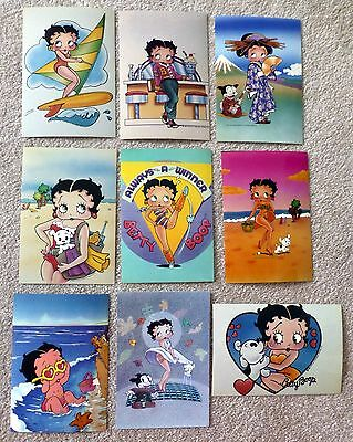 Betty Boop Postcards Set Of 9 Unposted King Features Syndicate Lqqk!