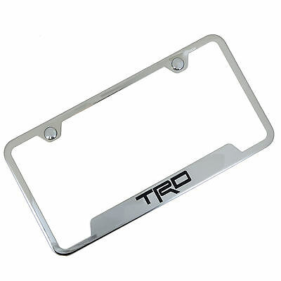 Toyota TRD Notched Chrome Stainless Steel License Plate Frame