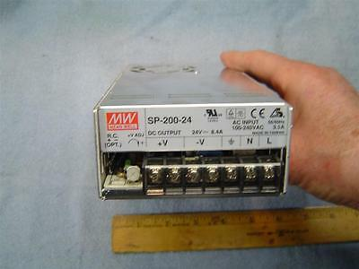 Mean Well Power Supply 24VDC 8A SP-200-24