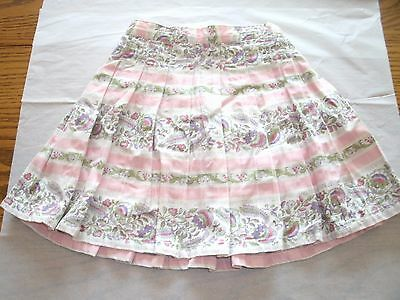 Toddler Girl's Skirt Size 3T With Panties Pink Purple Green Ivory By Gap - New!