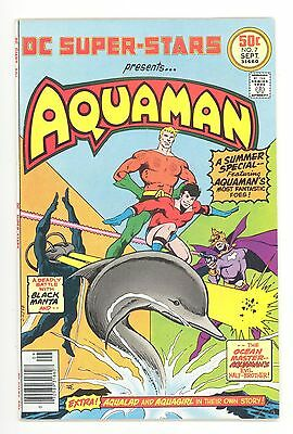 DC SUPER-STARS #7  Aquaman - 1st Black Manta - Jim Aparo Art - DC 1976 - FN/VF