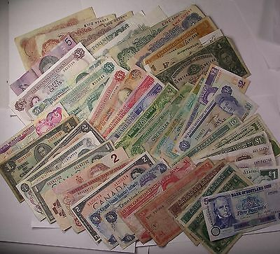 46 Great Britain & Commonwealth banknotes CURRENCY PAPER MONEY lot