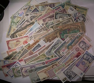 73 World Paper Money CURRENCY banknote lot