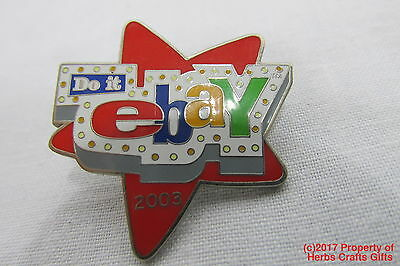 DO IT eBay Pin 2003 Red Star eBayana Clutch Collectible Old Logo our625 /
