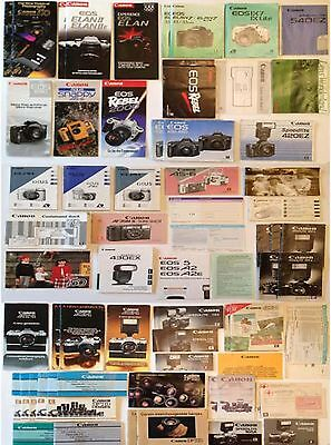 CANON Camera/Lens LITERATURE LOT Manuals/Brochures/Instructions/Books/Guides/FD