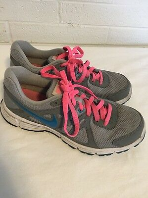 Nike Women's Revolution 2 Gray Pink Blue Lace Up Sneakers Shoes Size 9