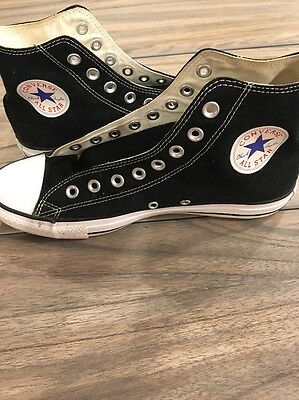 Converse All Star High Top Sneakers Chuck Taylor Shoes Black Men's 8 Women's 10