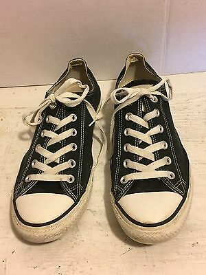 Converse All Star Black Lo Top Sneakers Shoes W10 M8