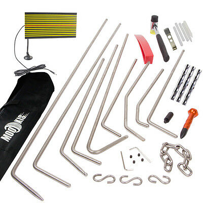 Car PDR Paintless Hail Dent Repair Puller Rods Removal Tap Hammer Line Board Kit