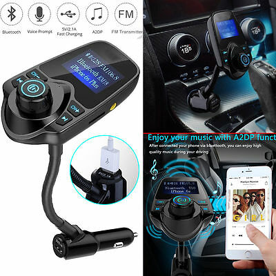 T10 Car Kit Handsfree Wireless Bluetooth FM Transmitter MP3 Player USB Charger U