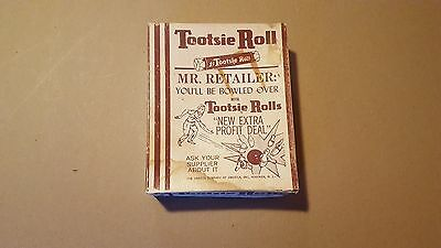 Vintage 1940s Tootsie Roll 1¢ RETAILERS CANDY ADVERTISING DISPLAY BOX Bowling