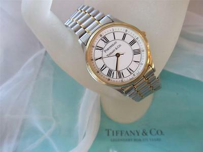 """Tiffany & Co. Portfolio Stainless Steel and 18K Gold Tone Men's Watch 8"""""""