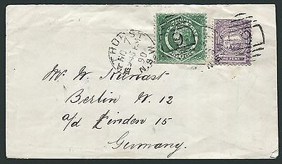 NEW SOUTH WALES: (10113) jeweller/Germany cancel/cover