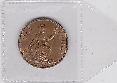 1951 George Vi Key Date Penny In Good Extremely Fine Condition