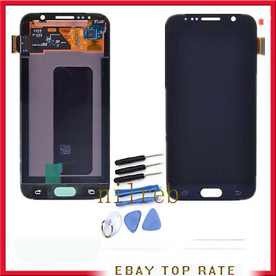 Display Lcd + Touch Screen Per Samsung Galaxy S6 Sm-G920F Blu Digitizer Schermo