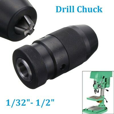 "Keyless 1/32""- 1/2"" Drill Chuck Self Tighten JT33 Mount in Prime Quality Tool"