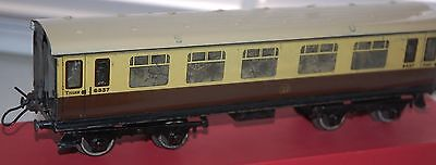 HORNBY SERIES O GAUGE No 2 COACH IN GREAT WESTERN RAILWAYS LIVERY BOXED