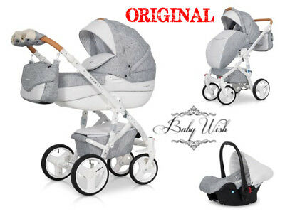 RIKO BRANO LUXE PRAM 3in1 FREE CUP HOLDER + EXTRAS !!!