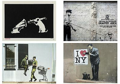 Banksy Graffiti Street Art Pack 12 Posters Collection / Set 12 Prints Hp4139