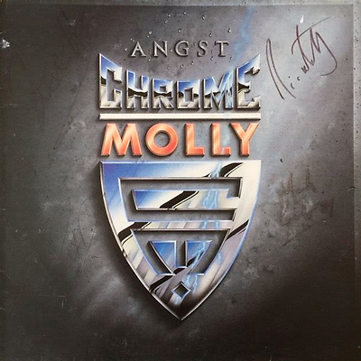 CHROME MOLLY - Angst (LP) (Signed) (VG/G-VG)