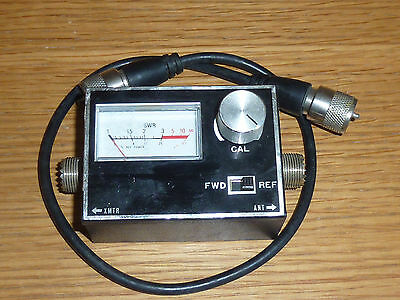 04-105 Antenna SWR Power Meter cb RADIO PWR FWD REF japan VINTAGE antenne CABLE