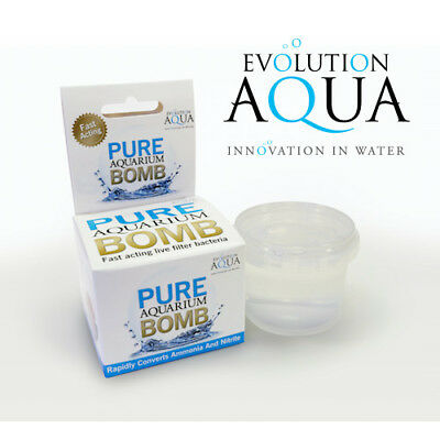 Evolution Aqua Pure Aquarium Bomb Crystal Clear Fish Tank Filter Start Media