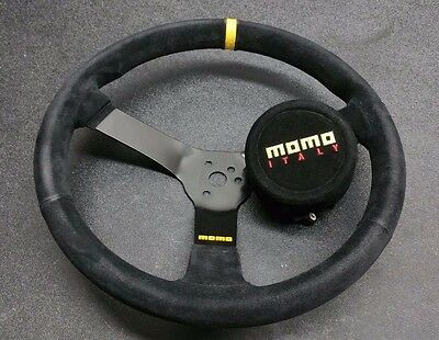 Momo R1971/35S Racing Steering Wheel N35  Black   Nascar Racing