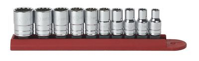"""GearWrench 80307D 10 Pc. 1/4"""" Drive 12 Point Standard SAE Socket Set"""