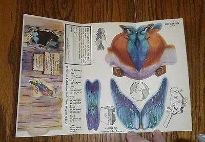 "1958 Foldabird Audubon Bird ""Eastern Bluebird"" VGC ~  By Nabisco NOS"