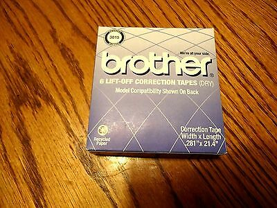 Brother 3015 OEM Ribbon - Lift-Off Correction Tape (6 Tapes / Pack) NEW IN BOX
