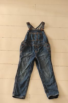 Baby Gap Toddler Boys Girls Size 4 4t Skinny Jean Overalls Bibs CUTE Denim