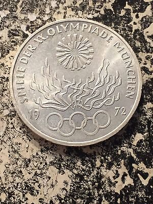 1972-F West Germany 10 Marks Olympics Lot#3430 Silver! High Grade! Beautiful!