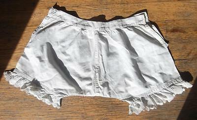 antique victorian edwardian undergarment cotton lace bloomers pantaloons w22